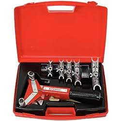 KS Tools 203.1200 Serie di Curvatubi a Cricco Manovrabili con Una Sola Mano 10.0-22, 0 mm, 9 Pezzi