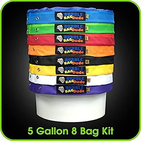 BUBBLEBAGDUDE Bubble Bags 5 Gallon 8 Bag Set - Herbal