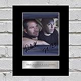 Photographie de Paul Walker et Vin Diesel dédicacée et encadrée Fast and Furious