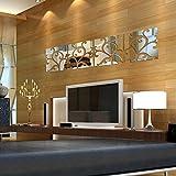 FAMILIZO Etiqueta 32Pcs Diy 3D ExtraíBle Espejo De AcríLico De La Etiqueta Mural De La Pared Decoración Del Hogar