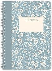 """LifeDesign Notizbuch Notizheft Spiralbuch """"Trentino"""" DIN A5 120 Seiten creme liniert Softcover"""