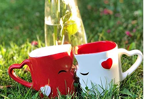 Mia ♥ Mio – Tazza da caffè/Set Bacio Tazze in Ceramica (Rosso) - 5