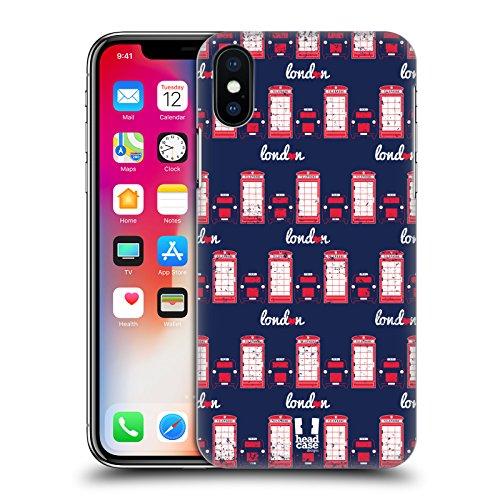 Head Case Designs Accento Inglese Stampa Londinese Cover Retro Rigida per Apple iPhone X Cabina Telefonica E Taxi