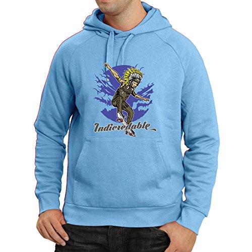 lepni.me Kapuzenpullover Indicredable - Skateboard-Design, Nur für Professionelle Skater (Small Blau Mehrfarben) (Jungen Graphic Kleinkind T-shirt)