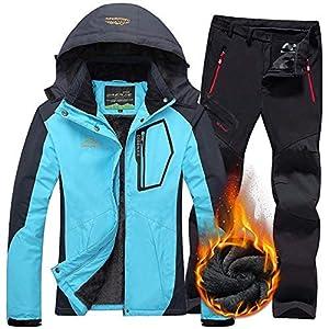 Aitry Skianzug zweiteilig, Damen Skianzug wasserdichte Jacke Hose warm, Outdoor-Jacke