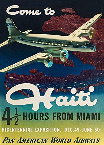 Vintage Travel Haiti mit Pan Am Airways für die 1949zweihundertjahr-Exposition 250gsm, Hochglanz, A3, vervielfältigtes Poster British Airways Holidays