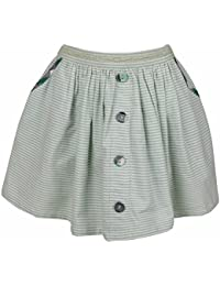 Shoppertree Striped Skirt With Pockets for Girls