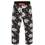 Looney Tunes - Pantalones de pijama oficiales - Para hombre - Bugs Bunny, Taz - Negro Taz - Medium