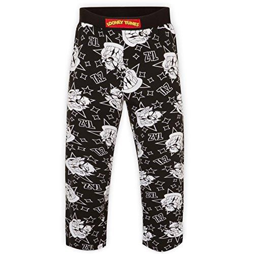 Looney Tunes - Pantalones de pijama oficiales - Para hombre - Bugs Bunny, Taz - Negro Taz - Small