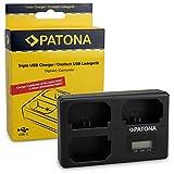 PATONA Triple Lader für Sony NP-FZ100, Alpha 9, 7 III, 7R III, 7RM3, kompaktes Akku-Ladegerät mit USB Type C Kabel