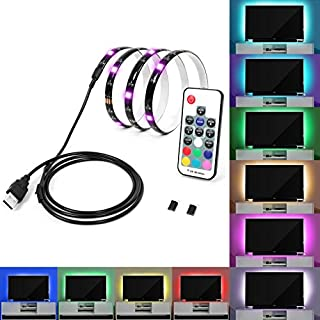 Calish Bias Lighting TV Backlight 100cm Multi Color RGB LED Strip, USB Cable TV Lighting for Flat Screen TV LCD, Desktop PC(Reduce eye fatigue and increase image clarity)