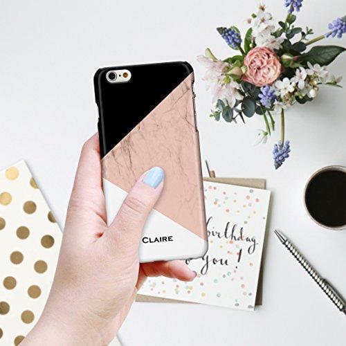 personalisierbar Marmor Mix Schutzhülle für iPhone Modelle. Marmor, Onyx und Holz Mix Designs, plastik, Marble 1: White Marble with Pink Base, iPhone 5C - Slim Case Marble 3: Black, Peach and White