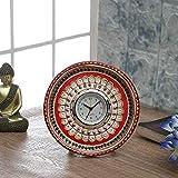 Tayhaa Marvel in Marble - Gold Embossed Kundan Work Alarm Clock
