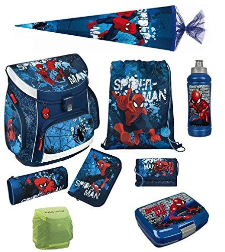 SpiderMan 2   Rucksack Schulranzen Federmappe 7-teilig SET NEU