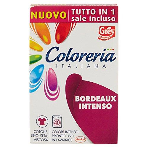Coloreria italiana colore bordeaux intenso pronto uso in lavatrice - 350 g