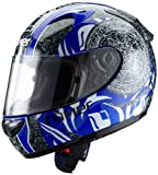 Römer RR50213_XXL Mandala Motorradhelm Größe XXL Schwarz / Blau