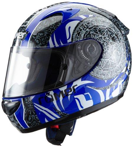 Römer Mandala Casco Integral de Motocicleta, Negro/Azul, L