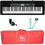 Casio CTK2550 keyboard with Adapter & Blueberry Red Bag along with Selfie Stick