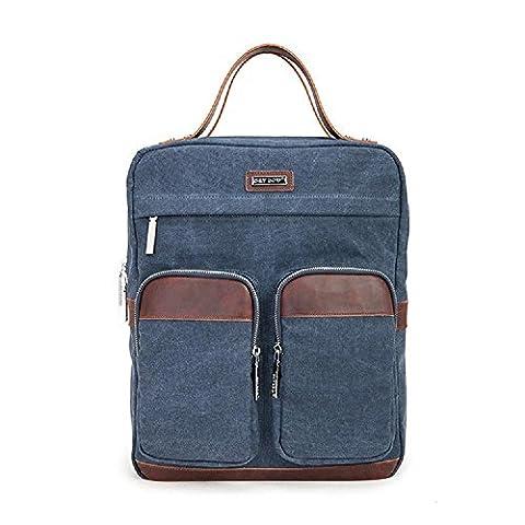 Sac à dos pour ordinateur portable Sac à dos Vintage Sac à dos pour ordinateur portable / École / Randonnée / Outdoor Casual Daypacks College Bag Mens
