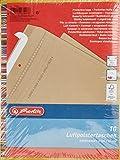 Herlitz 793406 Luftpolstertasche D/4, 180 x 260 mm, 10 Stück, eingeschweißt braun