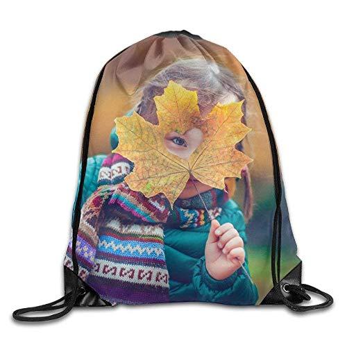 ym Drawstring Backpack Unisex Portable Sack Bag ()