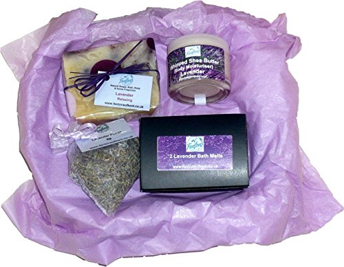 Fentons-of-Kent-Lavender-Gift-Set-Collection-contains-Natural-Soap-Whipped-Shea-Butter-Body-Butter-Bath-Melts-Pouch-made-using-Lavender-Essential-oil