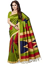 Ishin Women's Silk Saree With Blouse Piece (Ishinrtwz-28043_Green)