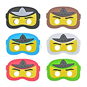 KREATWOW Ninja-Maske, Cartoon-Superheld Dress Up Augenmaske Kinder für Geburtstagsfeier, Party Favors