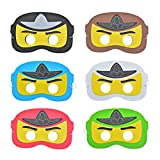 KREATWOW Ninja-Maske, Cartoon-Superheld Dress Up Augenmaske Kinder für Geburtstagsfeier, Party...