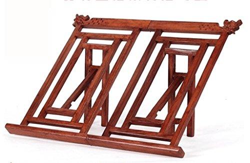DFHHG® Libro Stand 38 * 29 * 2.5 Cm Estanterías de lectura del marco de lectura Creative Postsheets de madera sólida retro durable ( Color : #1 )