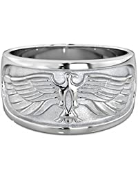Mens Ring - 925 Sterling Silver Mens's Eagle Ring - 11mm