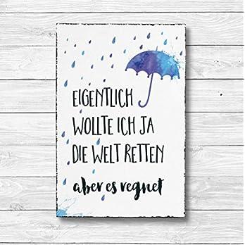 Eigentlich wollte ich ja die Welt retten – Dekoschild Wandschild Holz Deko Wand Schild 20x30cm Holzdeko Holzbild Geschenk Mitbringsel Geburtstag