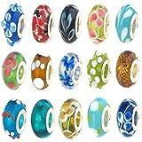 50pcs de perles de verre pour bracelets de charme Murano de la marque Cinziia