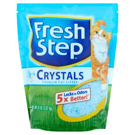 Fresh Step Cat Litter Lightweight 10-Day Odor Control Dust-Free Crystals 2-8lb Bags (16lb Total) by Fresh