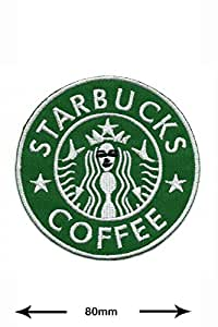 Starbucks Coffee Logo Veste boissons Brands Vintage T-shirt Sew Iron on Patch Écusson brodé signe Costum