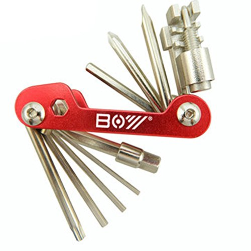 ShopSquare64 Boy 8050A 12 In 1 Fahrrad Multitool Reparatur Satz Sechskant-Schraubendreher Set Kettenklemme Splitter Werkzeug (Boys Fahrrad 12 Zoll)