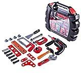 Tosbess 23er Set Workbench Werkzeugset Kinder Spielwerkzeug Sets für Pädagogisches Spielen - Beste Werkzeuge Kit Bank für Kleinkinder, Kinder, Jungs und Mädchen im Alter von 3 - 12 Jahren