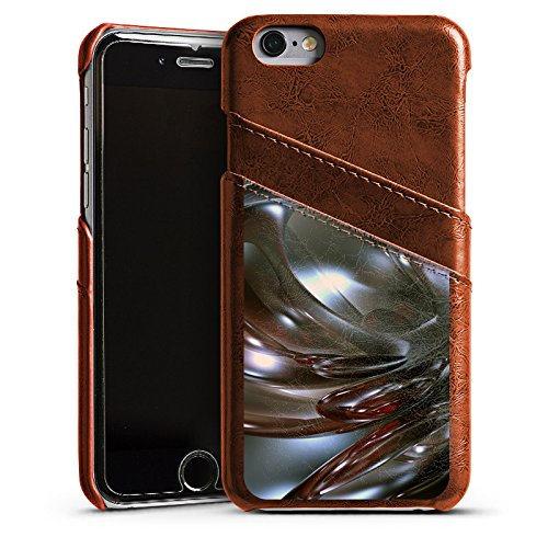 Apple iPhone 5s Housse Étui Protection Coque Chrome Chrome Chrome Étui en cuir marron