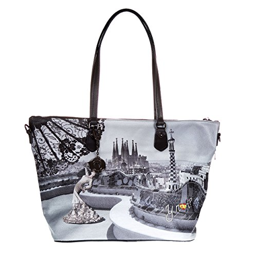 Y NOT? - Femme sac a bandouliere shopper shopping big g-397 Assorti