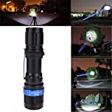 HCFKJ 3000 Lumen Zoomable CREE XM-L Q5 LED Taschenlampe Zoom Super Bright Light