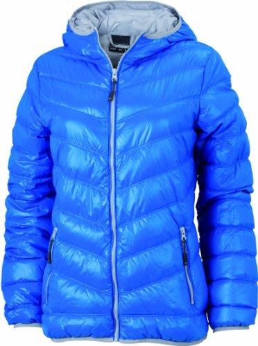 James & Nicholson Damen Jacke Daunenjacke Ladies' Down Jacket blau (blue/silver) Large