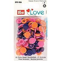 PRYM 393006 color boutons-pressions lOVE 12,4 mm orange/rose/violet lot de 30 ***veuillez descriptif du produit: ***