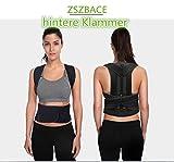 Geradehalter für Rücken Schulter Haltungskorrektur Rückenstabilisator Wirbelsäule für Damen und Herren Neopren Schulterträger verstellbar atmungsaktiv (S)
