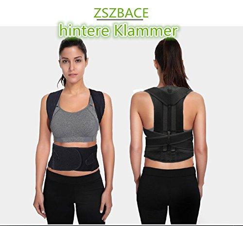 Geradehalter für Rücken Schulter Haltungskorrektur Rückenstabilisator Wirbelsäule für Damen und Herren Neopren Schulterträger verstellbar atmungsaktiv (L)