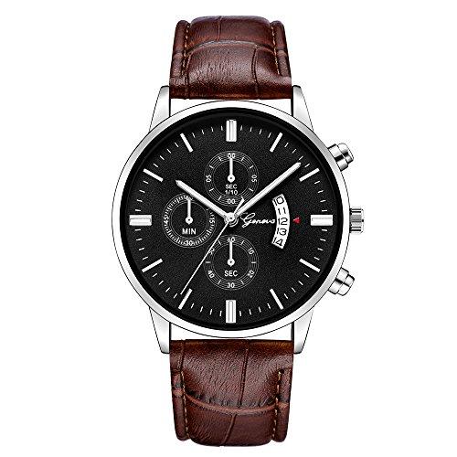 Lurcardo Herren Armbanduhr Leder Band Date Sport Retro Design Eeinfach Klassisch Beiläufig Männer Quarz Analog Uhr Business Mode Armband Elegant Luxus Design Uhren