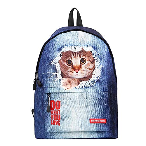 Eulan Cute Bookbags with Laptop Compartment, Lightweight Casual School Backpack Laptop Bag Unisex School Bag for Teen Girls and Boys Lightweight (Cat 1)