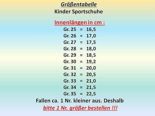 GIBRA® Enfants Chaussures de sport, avec fermeture velcro, blanc/bleu, Taille 25–35 Blanc - Weiß/Blau