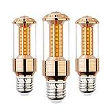 AHEVO E27 LED Lampe, 85-265 V, 15 W, Warmweiß, 3 Stück, entspricht 100-120-Watt-Glühbirnen, E27-Fassung, 1500 Lumen LED-Lichter, nicht dimmbar (GJZT, 3000 K), warmweiß, E27, 15.00W 230.00V