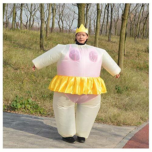 Weiblich Kostüm Frankenstein - XIONGDA Aufblasbare Kostüm Ballerina Lustige Street Performance Kleidung Erwachsene Kreative Einzigartige Kostüm Requisiten für Single Party Halloween Weihnachten Cosplay Party,Pink