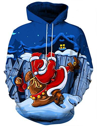 LAIDIPAS Unisex Realistische 3D Galaxy bedruckte große Taschen Drawstring Pullover Hoodie Kapuzen Sweatshirt Style 29